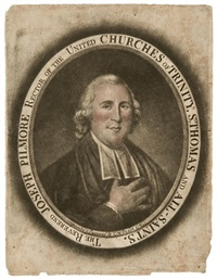 the reverend joseph pilmore rector of the united churches of trinity by charles willson peale