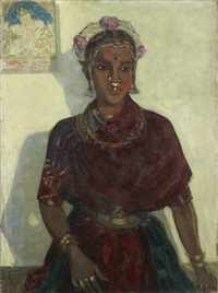 portrait d'indienne by andree karpeles