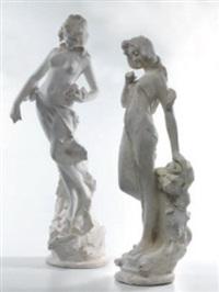 femmina velata (+ femmina velata, smllr; pair) by d. gabbrielli