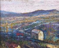 vue d'une valle d'auvergne depuis la propriété de la famille charreton by victor charreton