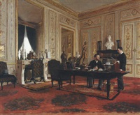 le directeur des beaux-arts, gustave larroumet, dans son cabinet de travail by édouard joseph dantan