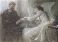 study for the confession by frank dicksee