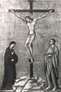 the crucifixion with the virgin and st. john the evangelist by pietro lorenzetti