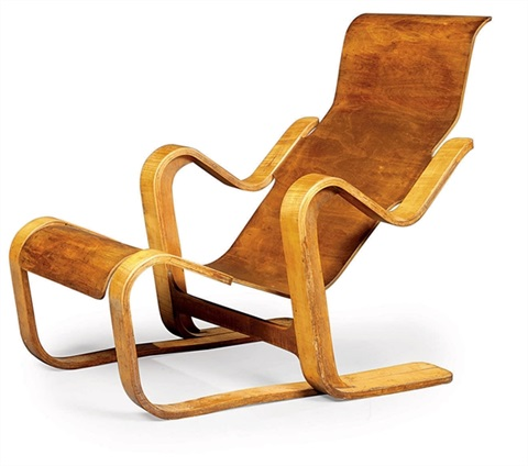 short lounge chair by marcel breuer