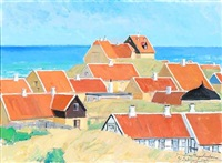 view from gammel skagen in denmark by johannes meyer andersen
