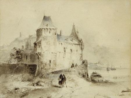 château animé en bord de mer by jean (jan) michael ruyten