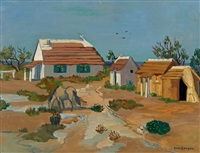 cabanes en camargue by yves brayer