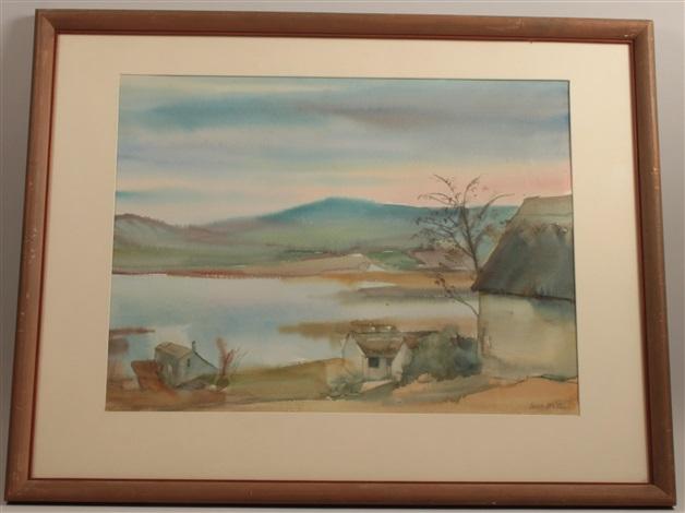 hungarian landscape by erich miller von hauenfels