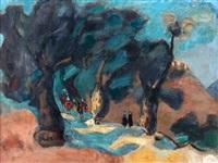 landscape with cavalier by nachum gutman
