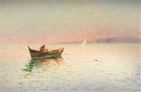 barque dans la rade de toulon by louis nattero
