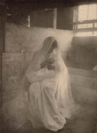 the manger (+ happy days; 2 works from camera work) by gertrude kasebier
