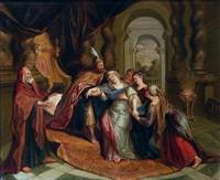 l'évanouissement d'esther by antoine coypel