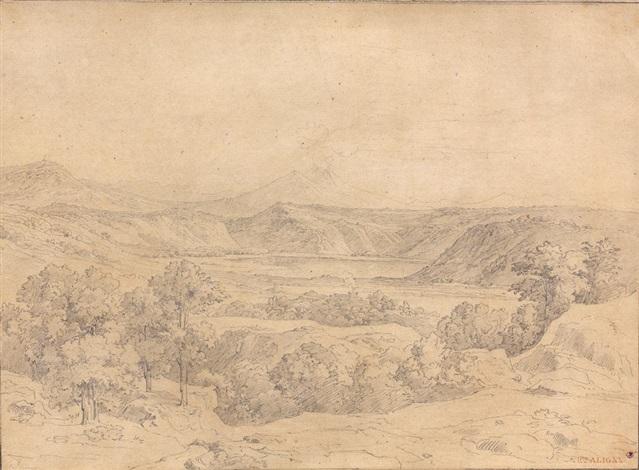 vue du lac daverne by théodore claude félix caruelle d aligny