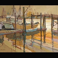 boats at dock by pat smoot