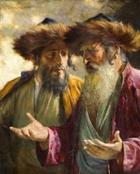 two rabbis in jerusalem by isaac snowman
