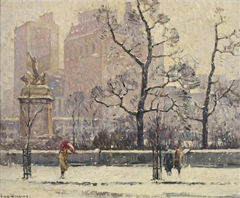 along central park by guy carleton wiggins
