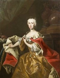 ritratto dell'arciduchessa maria anna di austria by johann gottfried auerbach