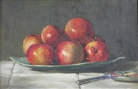 still life of apples by robert duddingstone herdman