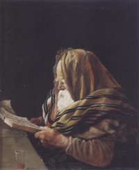 a rabbi praying by julian boncza tomaszewski