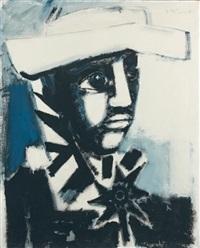 l'homme au chapeau blanc by bernard lorjou