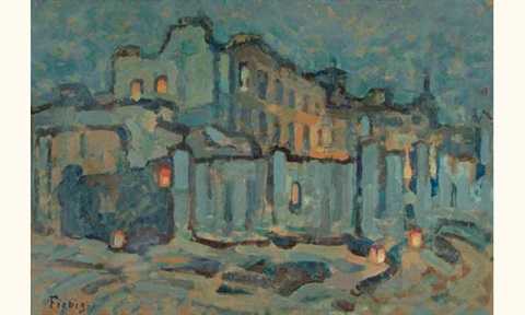 vieux quartier paris by frederic fiebig