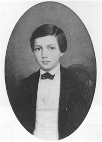 portrait of a young boy by charles-edouard lemaitre
