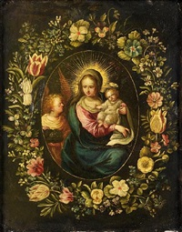 the madonna and child with an angel by andries daniels
