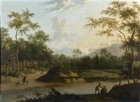 scène de chasse à courre au cerf by timotheus de graef