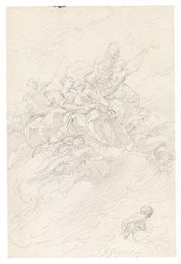 entwurf zu einem deckengemälde mit allegorischen figuren und putti by gregorio guglielmi