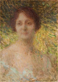 retrato de dama by ernest joseph laurent