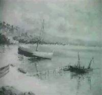 barcas en la orilla by miguel forteza