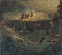 notturno tra i caseggiati by mario de maria