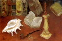 still life with shell by doris (michalis papageorgiou)