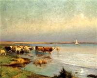 tehenek a balaton-parton (cows by the lake balaton) by gyula aggházy