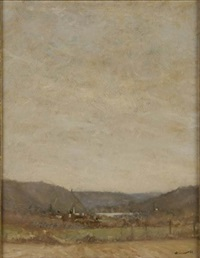 untitled - view of lambertville by anthony michael autorino