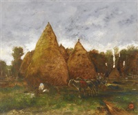 haystacks by lászló paál