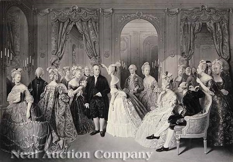 benjamin franklin at the court of france (after andré-eduard, baron jolly) by william overend geller