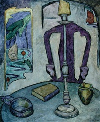 interior with chair and candlestick by natalie van vleck