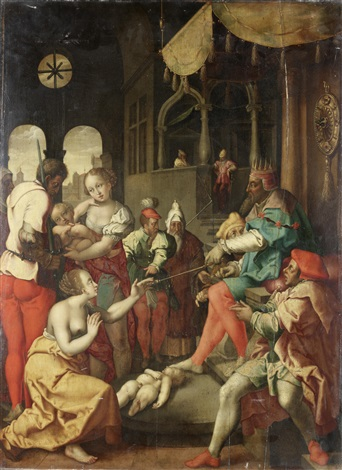 92d039c8fedf the judgment of solomon (after engraving by heinrich aldegrever) by flemish  school (16