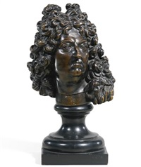 head of louis xiv by françois girardon