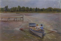 children in a paddle boat by john rettig