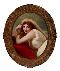 lady hamilton as the comic muse by george romney