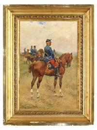 soldado de caballería by josep (josé) cusachs y cusachs