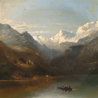 überfuhr am gebirgssee by james poole