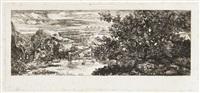 la sainte famille au bord d'un étang by rodolphe bresdin