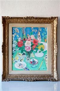bouquets de fleurs sur la table by gustave lino