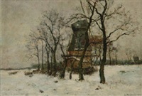 mühle im winter by rudolf hoeckner