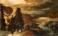 paesaggio con viandanti by herri met de bles