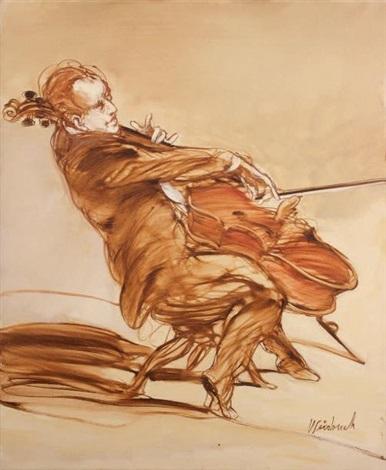 le violoncelliste by claude weisbuch