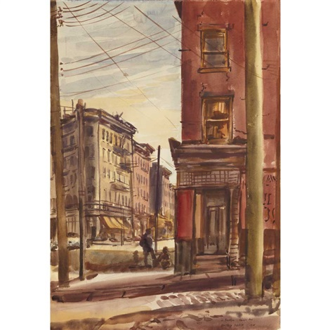 in brooklyn atlantic ave by reginald marsh